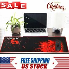 Large Mouse Pad Extended Gaming XXL 800x300mm Big Size Desk Mat Red & Black SA