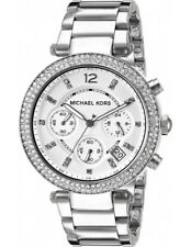 NEW GENUINE MICHAEL KORS MK5353 SILVER STEEL PARKER SWAROVKSI LADIES WATCH