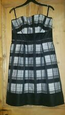 Next sleeveless tea dress black and grey checked pattern size 10