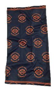 House of Harley-Davidson Black and Orange Customized Neck Gaiter - HOH NECK
