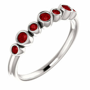 Chatham Created Ruby Bezel Set Ring In Platinum