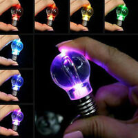 Cute Colorful Mini LED Flashlight Light Bulb Lamp Key Ring Keychain Lamp Torch