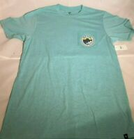 Rip Curl Men's Castaway Heather Blue Pocket Tee T-Shirt Size Medium/Large