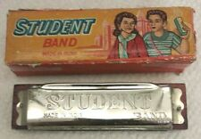 VINTAGE STUDENT BAND HARMONICA MADE IN INDIA GREAT SHAPE