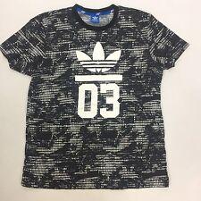 ADIDAS Neo T-shirt Black Tri Fold Black Gray White M Medium