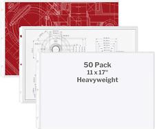 Dunwell 11x17 Sheet Protectors Landscape Heavyweight 50 Pack 11 X 17 Ledg