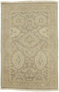 New Antique Style Muted Brown Entrance 2X3 Chobi Oushak Area Rug Oriental Carpet