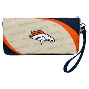 Denver Broncos NFL Women's Curve Zip Organizer Wallet / Purse