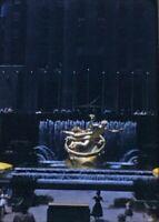 New York City Rockefeller Center Prometheus & Fountains 35mm Photo Slide 1958