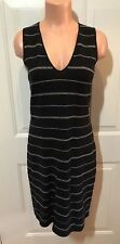 LAUREN RALPH LAUREN, Petite Size Small, Black/Khaki Striped, Linen Blend, Jumper