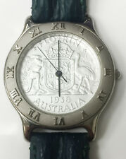 Coinwatch Florin 1938 Australia Coin Stainless Steel Vintage Watch Analog Quartz
