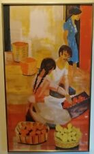 """Georges Lambert Numbered and Signed litho Kulicke Frame 19""""x32"""""""