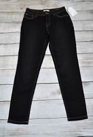 Bass Women's Skinny Jeans Slim Size Small S Black Five Pockets Mid-Rise NEW