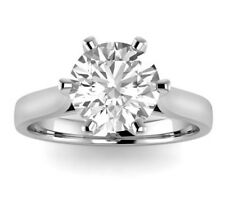 2.27 CT REAL NATURAL DIAMOND ENGAGEMENT RING ROUND CUT G VS2 14K WHITE GOLD