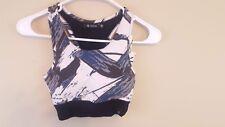 Satva Movement Rachel Yoga Bralette Gray Brush Print Size X-Small NEW MSRP $39