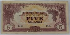 The Japanese Government 5 Five Dollars