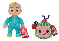 "Lot Of 2 Cocomelon 8"" Baby JJ Doll & Watermelon Plush Set NEW Stuffed Toys"