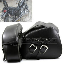 Motorcycle PU Leather Side Tool Saddle Bag For Harley Dyna Cruiser Bobber Custom