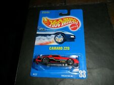 1991 Hot wheels RED Camaro Z28 Blue Card collector #33