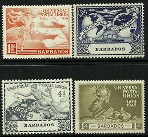 Barbados 1949 UPU set Mint Lightly Hinged Fresh Gum