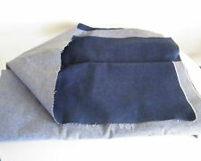 Vintage Denim Medium Dark Blue Over 5 Yards Cut Fabric Factory Crafts Clothing