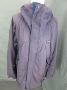 Patagonia Size M Mens Purple Full Zip Outdoor Hooded Windbreaker Jacket T987