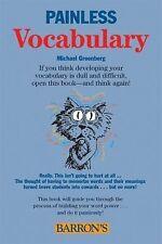 Painless Vocabulary (Barron's Painless) Greenberg, Michael Paperback