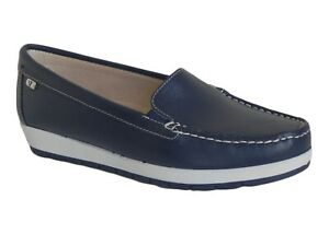 SCARPE DONNA VALLEVERDE ESTATE 11102 B  MOCASSINI BLU