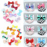 5/10PCS Bowknot Duckbill Hair Clips Ribbon Bow Hair Accessories for Baby Girl