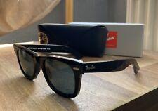 Ray Ban Wayfarer Black RB2140 50▫️22 Sunglasses Shades Black Lens 🔥🔥 Hollywood