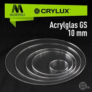 Acrylglas GS 10mm ## Laserpoliert ## Kreise, Ringe, runde Scheiben Ø30-Ø700 mm