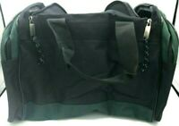 "14"" Duffle Gym Mini Travel Green Black Bag 14 X 10 X 8"