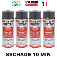 4 Bombes ANTHRACITE BRILLANT GRIS FONCE Peinture Aérosol Spray 4x400 ml Lot NEUF