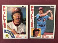 1984 Topps #700 & #388 Mike Schmidt NR-MINT ~ SUPER SHARP ~ Free Shipping