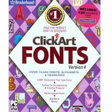 ClickArt Fonts Version 4  (Large Box)