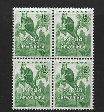 PAPUA & NEW GUINEA, QE11, 1952 DEFINS, 1/2d TREE KANGAROO, SG 1 MNH BLOCK 4