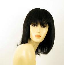perruque femme 100% cheveux naturel noir ref ISA 1b