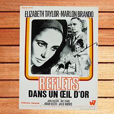MARLON BRANDO  - SYNOPSIS DU FILM REFLETS DANS UN OEIL D'OR - ELIZABETH TAYLOR