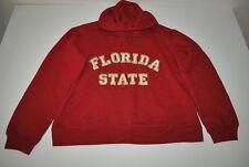 J AMERICA FLORIDA STATE SEMINOLES FSU GARNET RED HOODIE SWEATER MENS SIZE XL