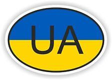 FLAG ovale con UA Ucraina Codice paese Adesivo Auto Motocycle AUTO CAMION
