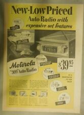 Motorola Ad: New Motorola 309 Auto Radio! from 1949