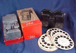 Vintage Mico Vue Slide Strip Viewer in Box Sawyer's View Master & 14 Reels