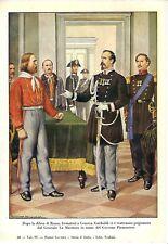 GENOVA Ufficiali Francesi al Caffè La Concordia.Risorgimento.Stampa Antica.1859