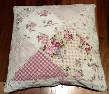 Shabby Chic Throw Cushion Pillow Cover Sham Pink Patchwork Florals 45cm