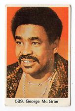1970s Swedish Film Star Card #589 US Disco Rock Your Baby singer George McCrae