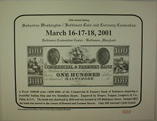 2001 March 29th Spring Washington Baltimore Coin & Currency Show Souvenir Card