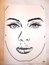 A4 Black Ink Marker Pen Sketch Drawing Musician Adele Laurie Blue Adkins C