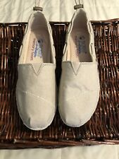 Bobs by Skechers Women's Memory Foam Wedge Espadrille Shoes Taupe US 6.5