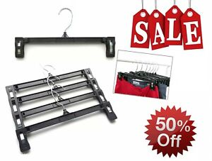 """Black Clothes Hangers 10"""" for pants 6210 Lot of 100 *SALE 50% off**"""