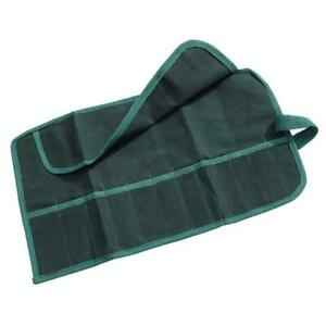 Canvas 12 Pocket Tool Roll spanner,Water Resistant Storage Bag Case Fold Pouch
